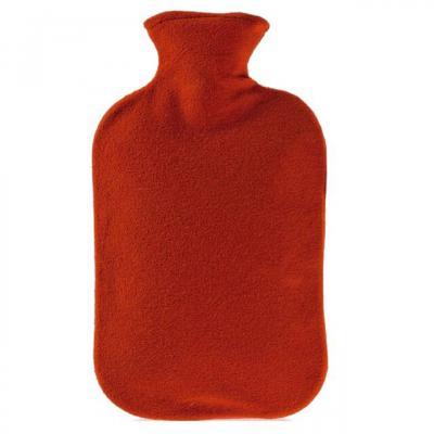Fashy Hot Water Bottle Fleece Red 2 Litre
