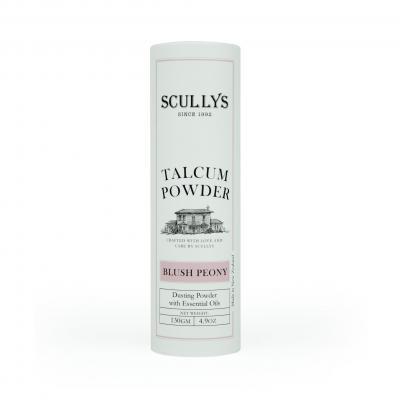 SCULLY'S BLUSH PEONY TALCUM POWDER 130GM