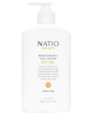 Natio Moisturising Sun Lotion SPF50+ 500ml