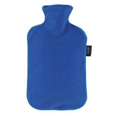 Fashy Hot Water Bottle Fleece Blue 2 Litre