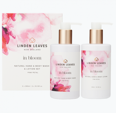 Linden Leaves In Bloom Lotion & Wash Set Pink Petal 2x300ml