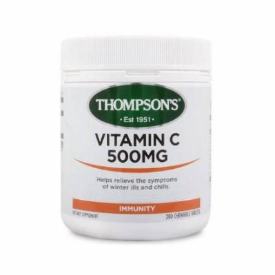 Thompson's Vitamin C 500mg 200 Chewable Tablets