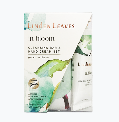 Linden Leaves In Bloom Hand Cream & Cleansing Bar Set Green Verbena