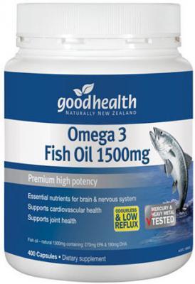 GOOD HEALTH FISH OIL 400 CAPSULES