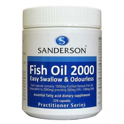 Sanderson Fish Oil 2000mg 220 Capsules