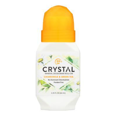 Crystal Essence Roll On Deodorant Chamomile & Green Tea 66ml