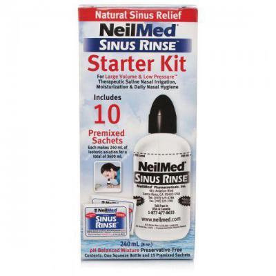 Neilmed Sinus Rinse Starter Pack 240ml & 10 Sachet