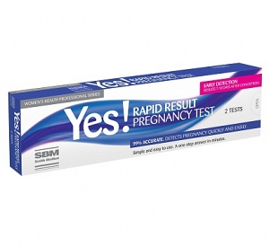 YES Rapid Result Pregnancy Test 2 Tests