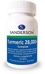 Sanderson Turmeric 28000+ Complex Tablets 60 Tablets