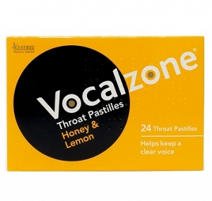 Vocalzone Throat Pastilles Honey Lemon 24