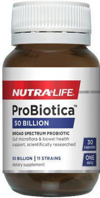 NUTRALIFE PROBIOTICA 50 BILLION 30 CAPSULES