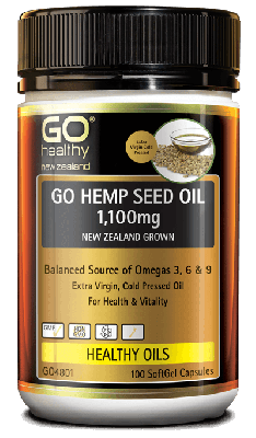 GO Healthy GO Hemp Seed Oil 1100MG 100 Capsules