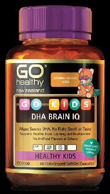 GO Healthy GO Kids DHA Brain 1Q 60 Capsules