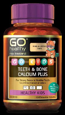 GO Healthy Go KIDS Teeth & Bone Calcium Plus 60 Chewable Tablets