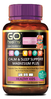 Go Healthy Go Kids Calm Sleep Support Magnesium Plus 100 Chewable tablets