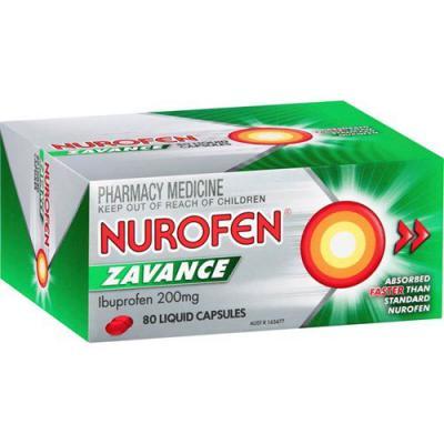 Nurofen Zavance Liquid Capsules 80
