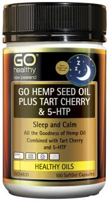 Go Healthy Go Hemp Seed Oil Plus Tart Cherry & 5HTP 100 Capsules