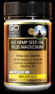 GO Healthy Go Hemp Seed Oil Plus Magnesium 100 Capsules
