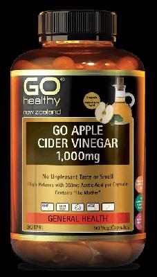 GO Healthy Go Apple Cider Vinegar 1000mg 90 Capsules