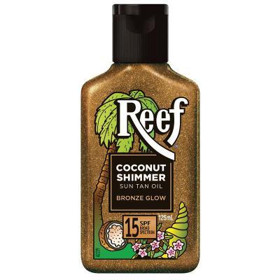 Reef Coconut Shimmer Sun Tan Oil Bronze Glow SPF15 125ml