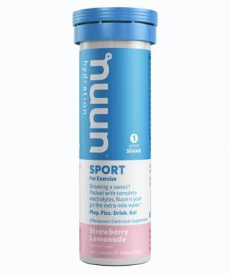 Nuun Sport Effervescent Tablets Strawberry Lemonade 10