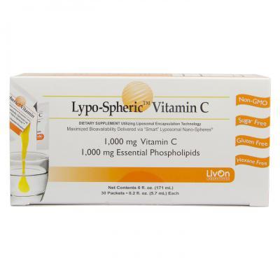LIVON LYPO SPHERIC VITAMIN C 1000MG 30 SACHETS