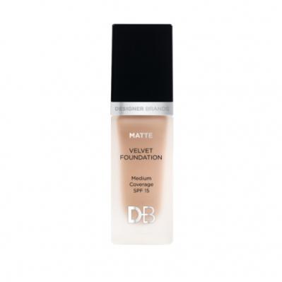 Designer Brands Matte Velvet Foundation Warm Honey
