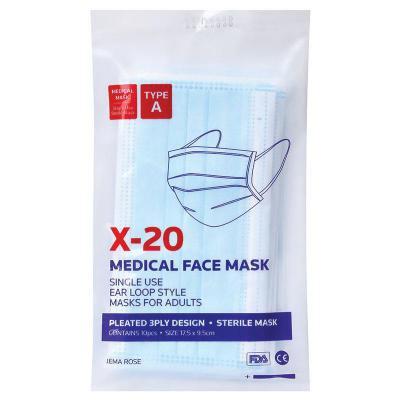 X20 Medical Face Mask 5 Pack