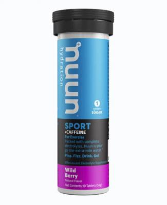 Nuun Sport Effervescent Tablets Caffeine Wild Berry 10
