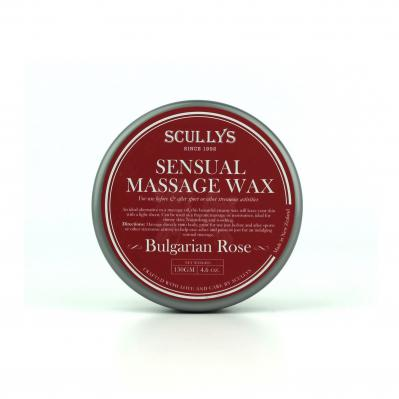 SCULLY'S ROSE SENSUAL MASSAGE WAX 130GM