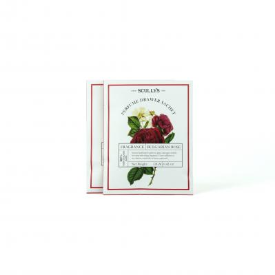 SCULLY'S ROSE PERFUME DRAWER SACHET TWIN PACK 12G