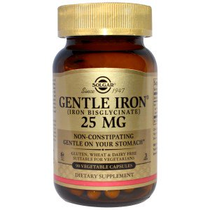 Solgar Gentle Iron 20mg 30 Capsules