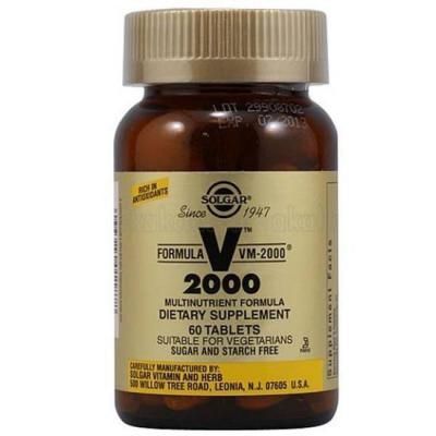 Solgar VM 2000 Multi Vitamin 60 Tablets