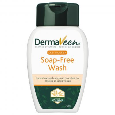 DERMAVEEN DAILY NOURISH SOAP FREE WASH 250ML