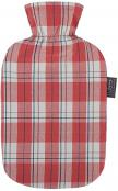 Fashy Hot Water Bottle Tartan Coral 2 Litre