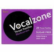 Vocalzone Throat Pastilles Sugar Free Blackcurrant 24