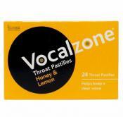 Vocalzone Throat Pastilles Honey Lemon 24