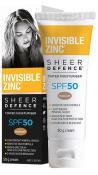 INVISIBLE ZINC SHEER DEFENCE TINTED MOISTURISER MEDIUM SPF50 50G