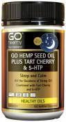 GoHealthy Go Hemp Seed Oil Plus Tart Cherry & 5HTP 100 Capsules