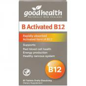 Good Health B Activated B12 60 Tablets