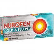 Nurofen PE Cold And Flu 12 Tablets