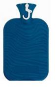 Fashy Hot Water Bottle Wave Single Rib Blue 2 Litre
